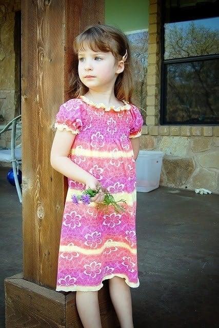 New Shirred Peasant dress