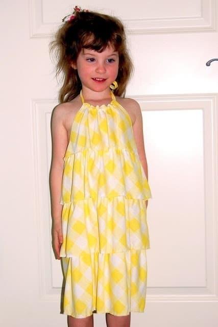Knit halter dress for summer