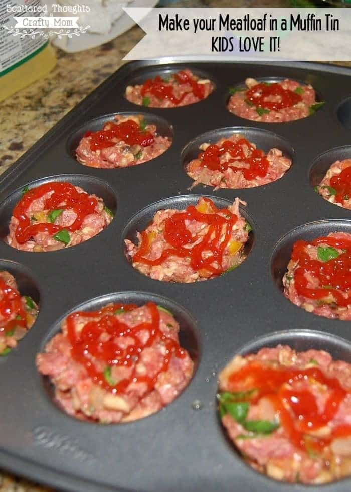Mini Meatloaf In A Muffin Tin Recipe Scattered Thoughts