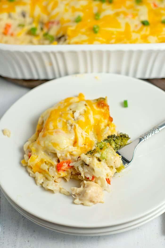 chicken rice and broccoli casserole