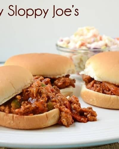 Healthy Sloppy Joe's