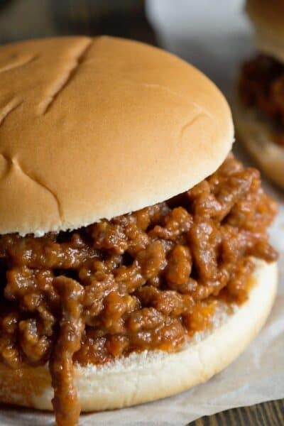 Healthy Sloppy Joe Recipe- Your family will love this lightened up version of the family favorite Sloppy Joe recipe.