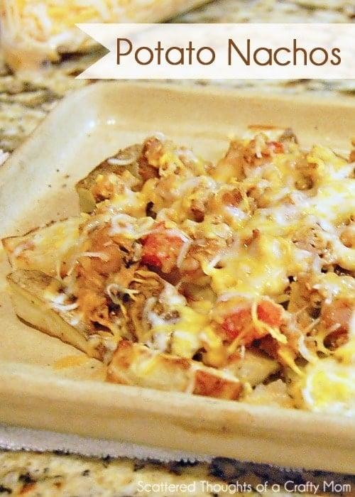Potato Nachos Recipe (Great way to use up leftovers)