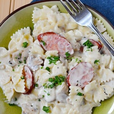 Creamy Cajun Sausage Pasta (use sausage or chicken)