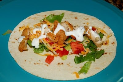 Chicken and Salad Snack Wrap