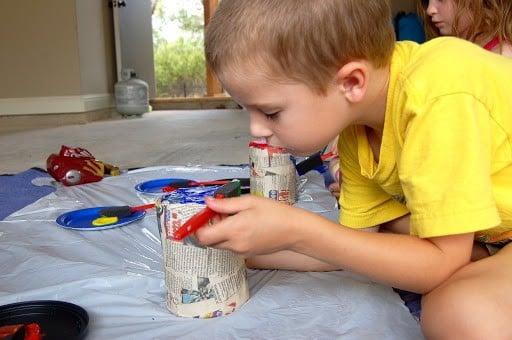 Monday Craft: Paper Mache Piggy Banks