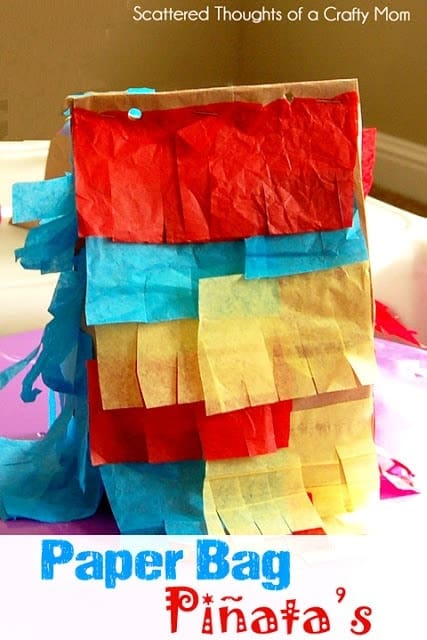 Monday Craft: Paper Sack Piñata
