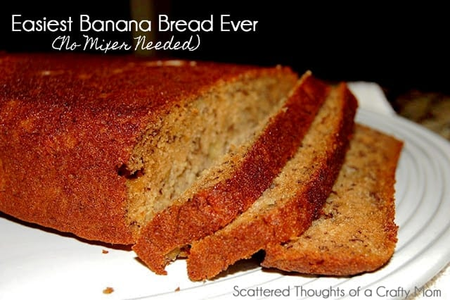 Super Easy Banana Bread (No mixer needed)