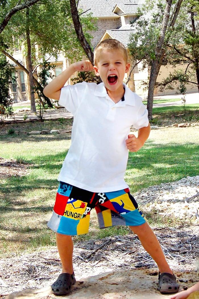 diy patchwork shorts
