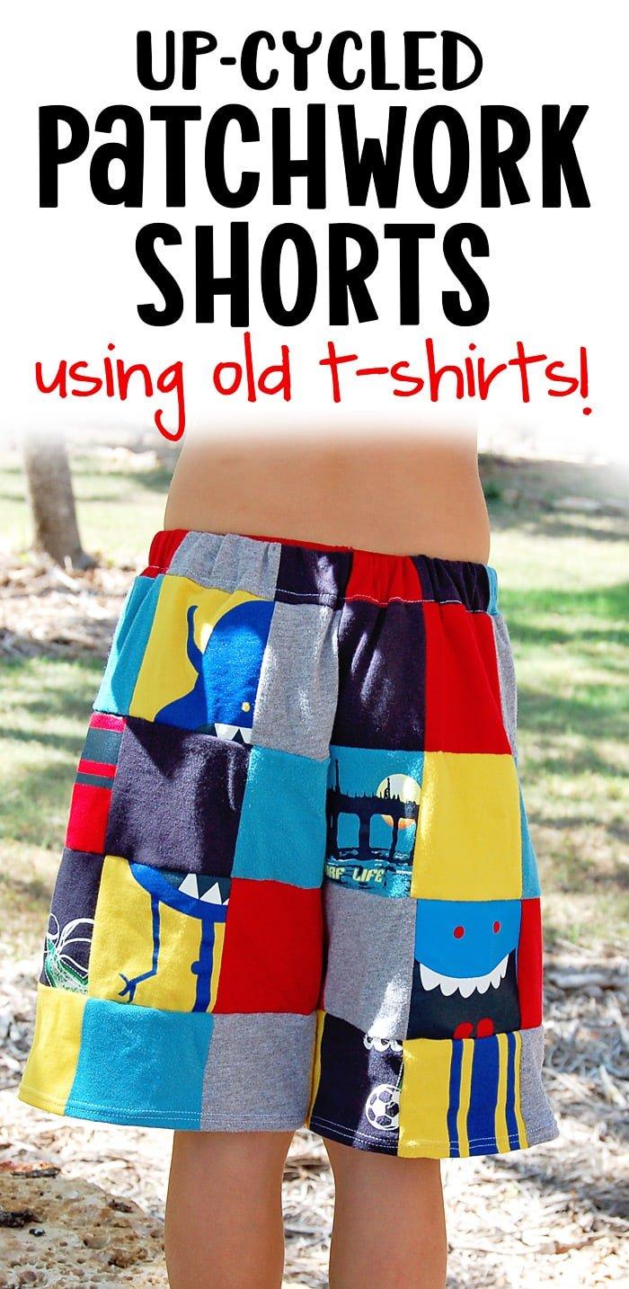 diy shorts from t-shirts