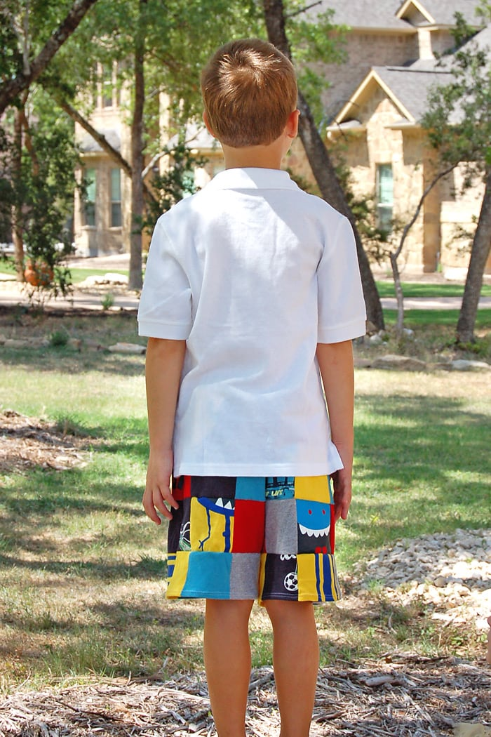 how to make patchwork shorts