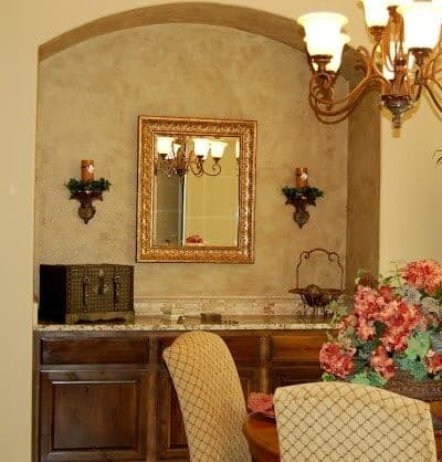 Dining Room Update- Faux Painted Niche