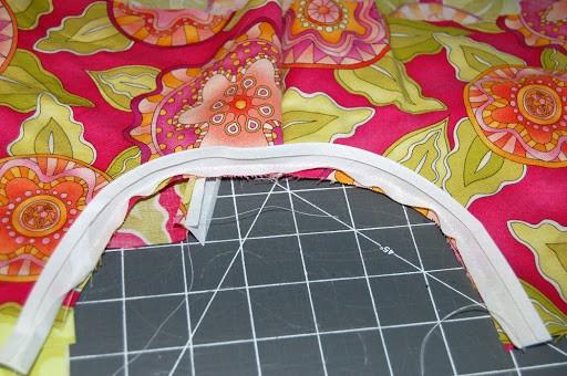 how to finish armholes on pillowcase dress