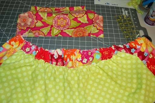 tiered pillowcase dress tutorial - adding the tiers