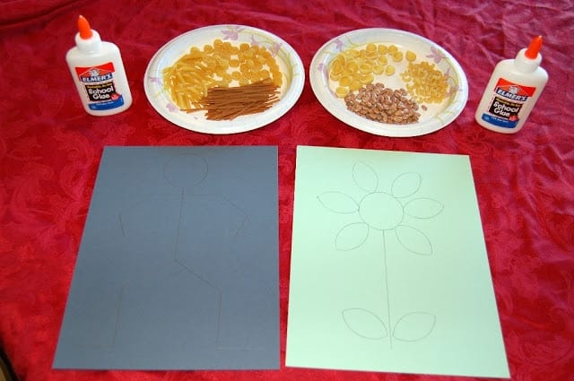 kid craft, macaroni art