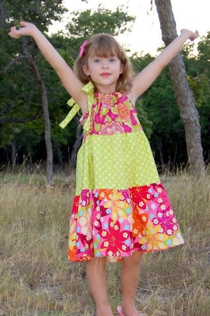how to sew a tiered pillowcase dress with a free pattern