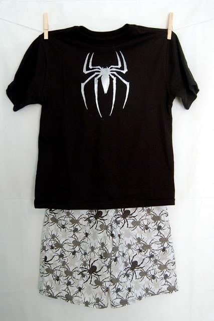 Scary Spider Shirt and Shorts