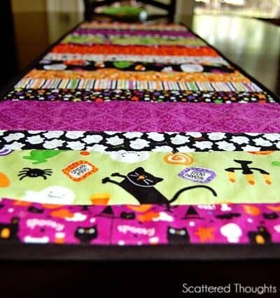 Quilted Halloween Table Runner
