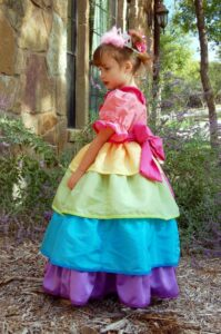 DIY Rainbow Princess Dress