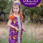 Sew an Easy Halloween Peasant dress with this free peasant dress pattern (free pattern comes in sizes 12 month to 14y) #peasantdress #freepattern