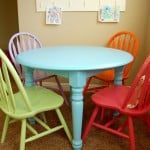 New Craft Table and Chairs for the Playroom