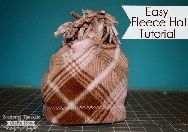 Easy Fleece Hat Tutorial