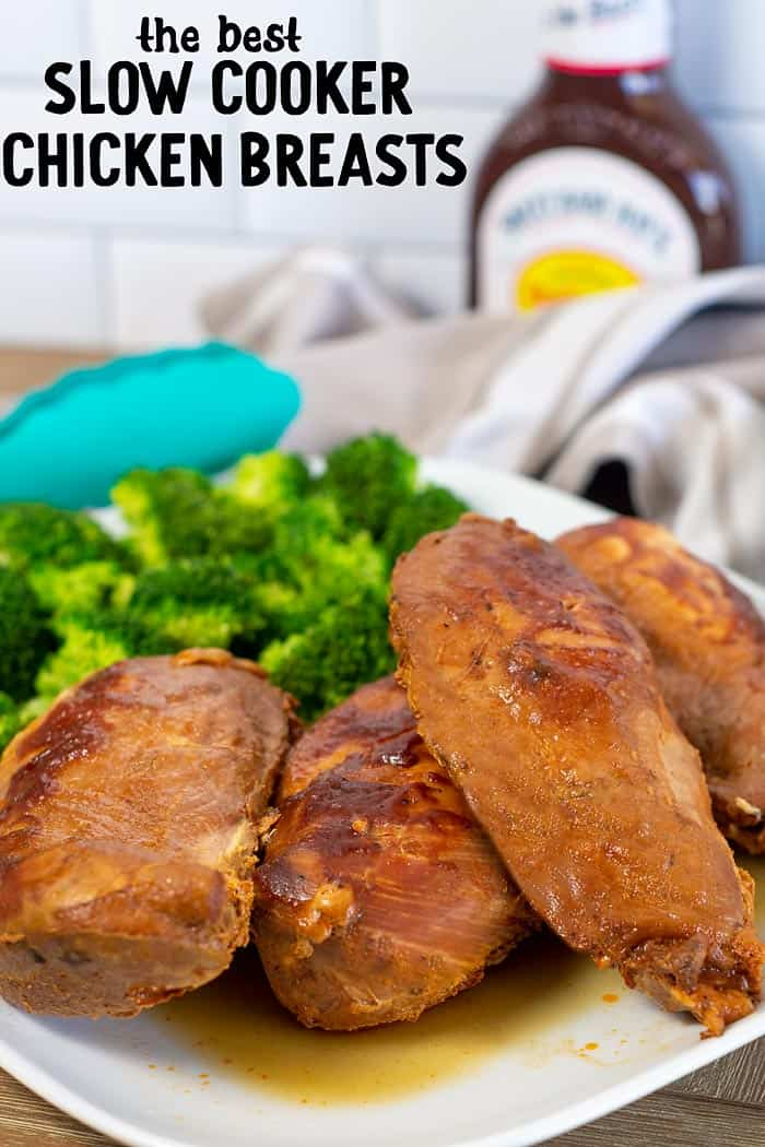 Barbecue Chicken Breasts in the Crock Pot
