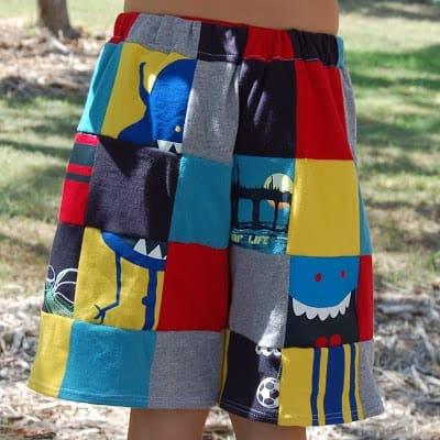 Upcycled Patchwork Shorts
