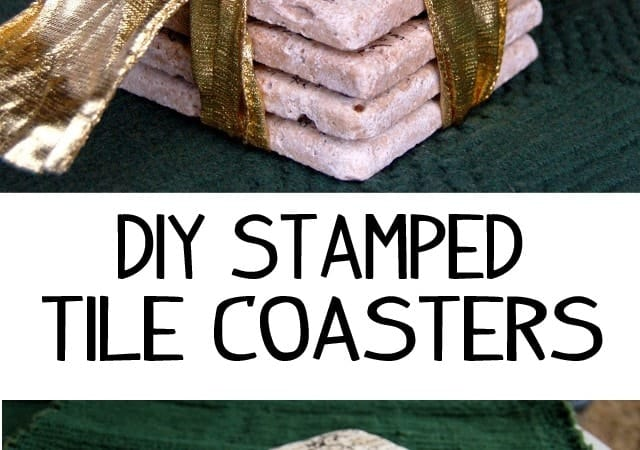 Gift Idea: Stamped Tile Coasters