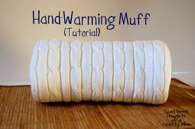 Hand Muff Knitting Pattern : Hand Warming Muff Tutorial - Scattered Thoughts of a Crafty Mom by Jamie Sanders