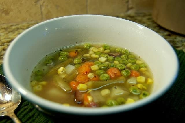 Cooking with Kids, A Simple Ham and Vegetable Crock Pot Soup