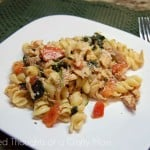 Penne with Chicken, Spinach and Tomatoes
