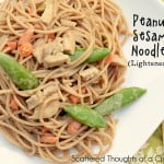 Easy Peanut Noodles (lightened up)