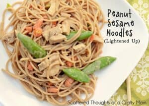 Weight Watchers friendly, Easy Peanut Noodles Recipe