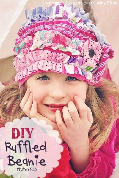 Ruffled Beanie Hat Tutorial