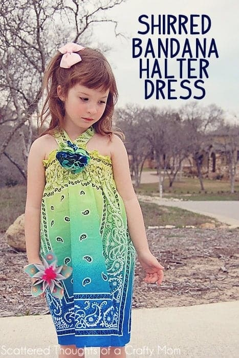 Sew a quick and easy childs halter dress w/ Bandannas