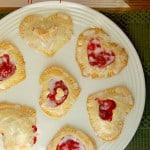 Cherry and Cream Cheese Heart Pastry