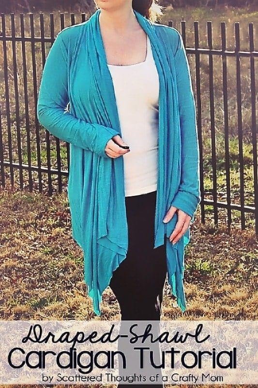 Draped Shawl Cardigan (Pattern Review and Mini Tutorial)
