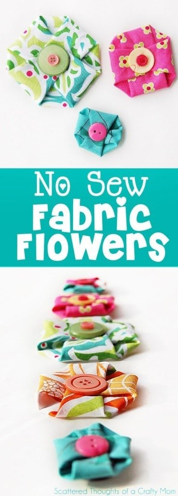 How to make no sew fabric flowers