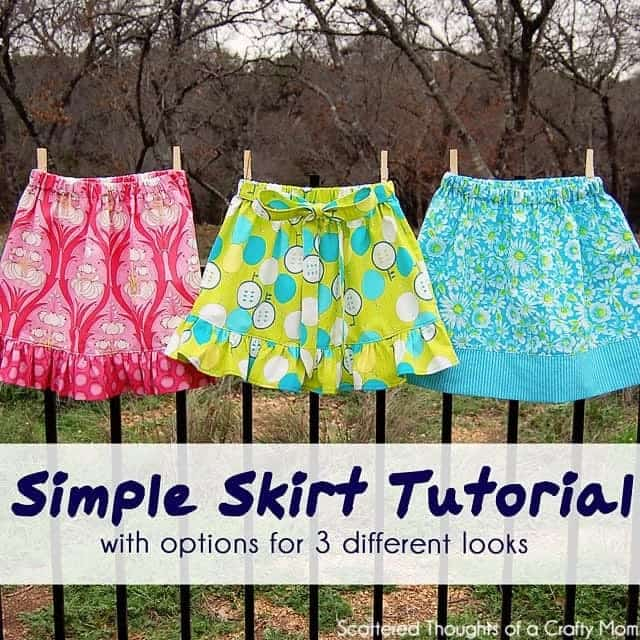 how to sew a skirt