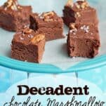 This decadent Chocolate Marshmallow fudge is simple to make on the stovetop and tastes absolutely AMAZING!!