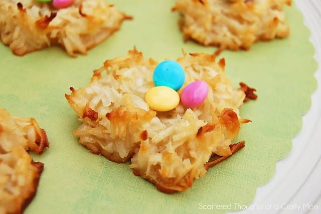Super Easy and oh-so-cute, Spring Basket Cookies!  (Coconut Macaroons)