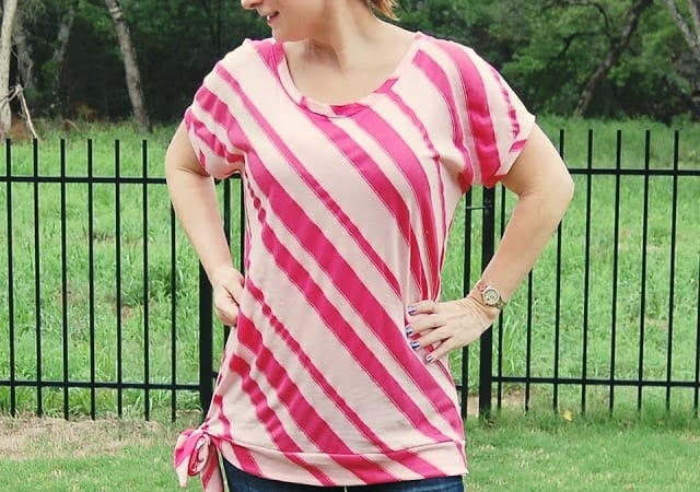 A New Top For Me, Plus Tips on Drafting a Pattern From a T-Shirt