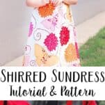 Sew this super easy shirred sundress for your little one! (includes a printable bodice pattern)