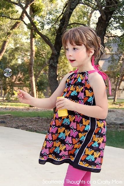 how to make a pillowcase dress with no sewing!