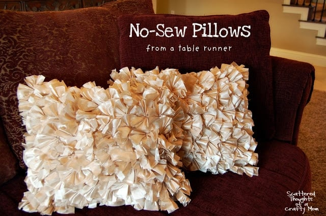 how to make pillow covers without a sewing machine