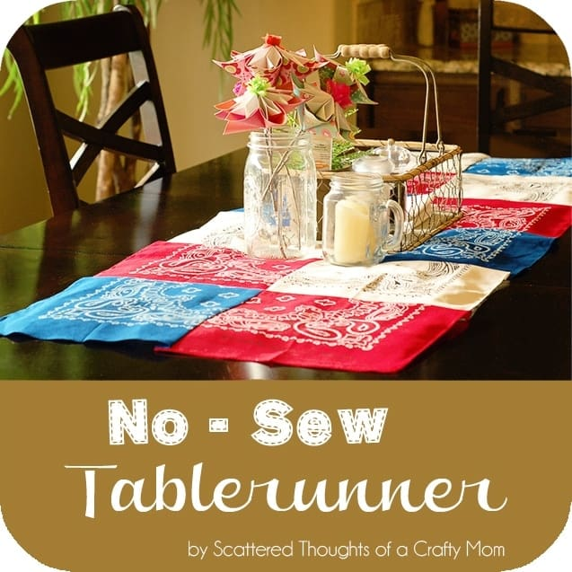 No sew table runner scattered thoughts of a crafty mom by jamie my kitchen table still had some easter decor on it so i figured i should probably change it out to something more appropriate for summer and the upcoming workwithnaturefo