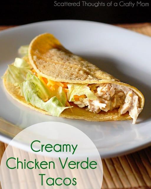 Creamy Chicken Verde Tacos
