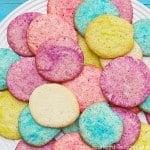 Easy Rainbow Sugar Cookies