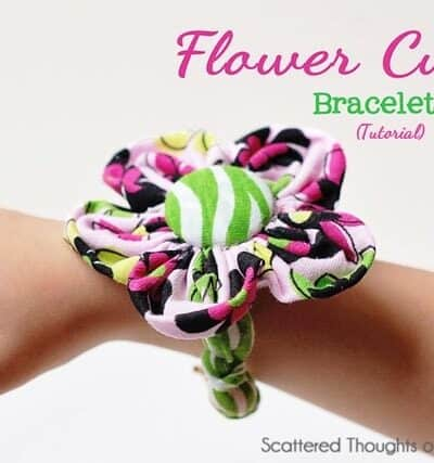 Flower Cuff Bracelet and Tutorial